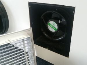 150mm transfer fan with built-in wall grill