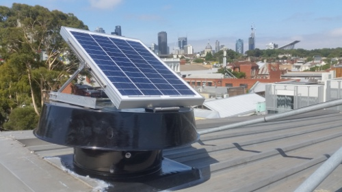 Solar whiz SW2100-RAF fitted to metal tray roof in Melbourne