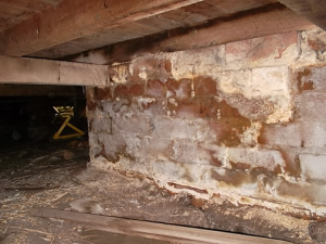 Solar sub-floor ventilator will cure crumbling bricks.