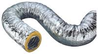 Flexible insulated duct reduces sound