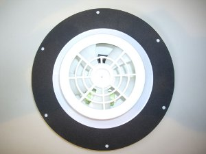 Underside of micro whiz, showing fan, batteries and on-off switch.
