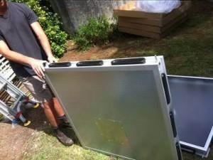 Solar Air Heating Modules for preheating the air.