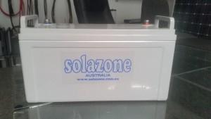 Solazone tubular plate gel battery