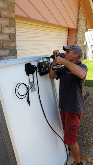 Fitting an APS micro inverter is easy