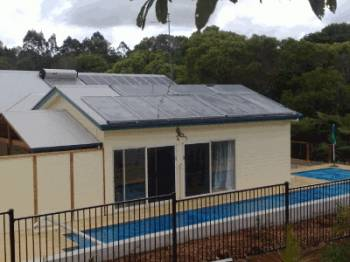 Solartherm heating up a lap pool