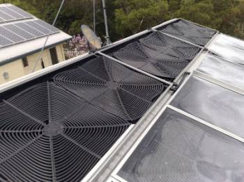 Solartherm collectors installed at Flaxton, Queensland