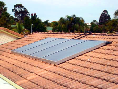 Solarthem installation on tiled roof in Queensland
