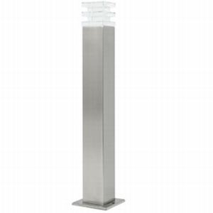 square aluminium solar LED bollard