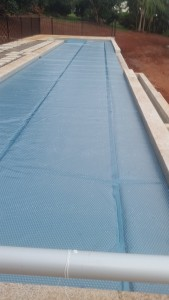 Daisy titanium pool cover
