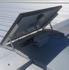 Solar ventilator battery-pack