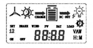 wind charge controller display