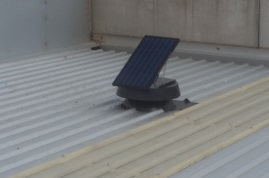 solar ventilator on factory roof