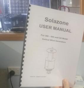 Solazone Q4 wind generator manual