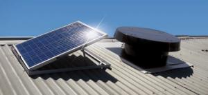Industrial solar powered roof ventilator