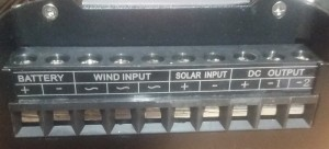 Wind charger controller connection terminals