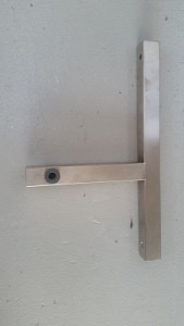 Wall-mounted roller end frame 3