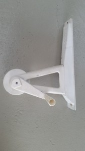 Wall-mounted roller end frame 4A