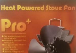 heat powered wood stove fan