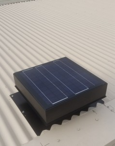solar ventilator on corrugated colorbond roof