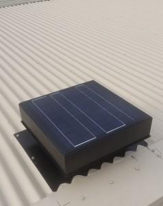 solar ventilator on corrugated colorbond roof