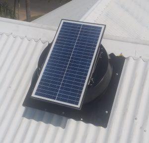 SV3500T solar ventilator on Brisbane roof.