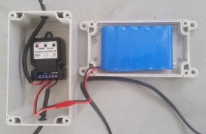 This is the Solar Roof Ventilator back-up battery
